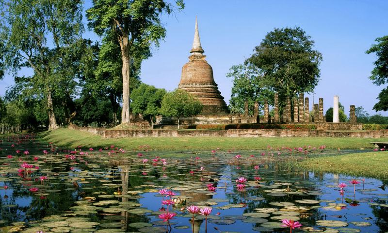 泰国高清风景油画
