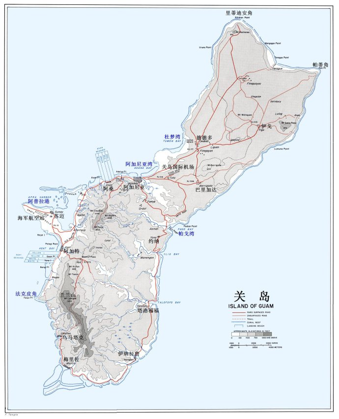 关岛 北海道地图