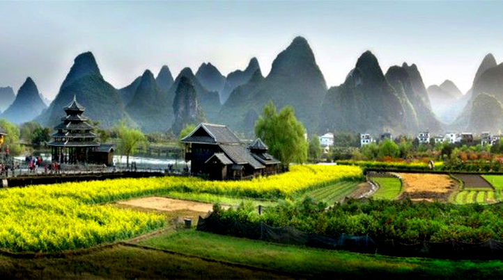 桂林阳朔笔架山风景图片