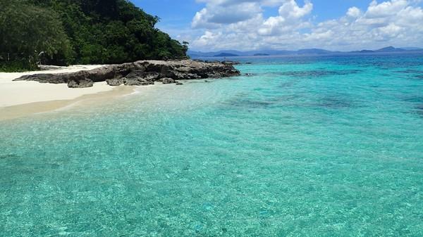 早上各酒店接客人前往码头,转乘快艇前往【斯米兰群岛】,9 个岛中我们挑选了其中最美丽的4 个岛,去尽情的游泳与浮潜。同时可以在银白色的沙滩上自由活动。斯米兰岛的美丽是无法用言辞来形容的,只有您的亲身体验,才能感受它的独特魅力。首先我们参观其中最美丽的【4号安岛(Koh Miang)】,这里大片坚固的珊瑚礁高度逐渐地降低到大概30-40 米,由于海水深度的增加,这个位置被沙子所代替了。在这些岛屿周围形成的旋涡状的、营养丰富的水域有着大量色彩艳丽的热带鱼, 在这些水域观赏到巨大鱼儿的机会是很少的,但是在这你也