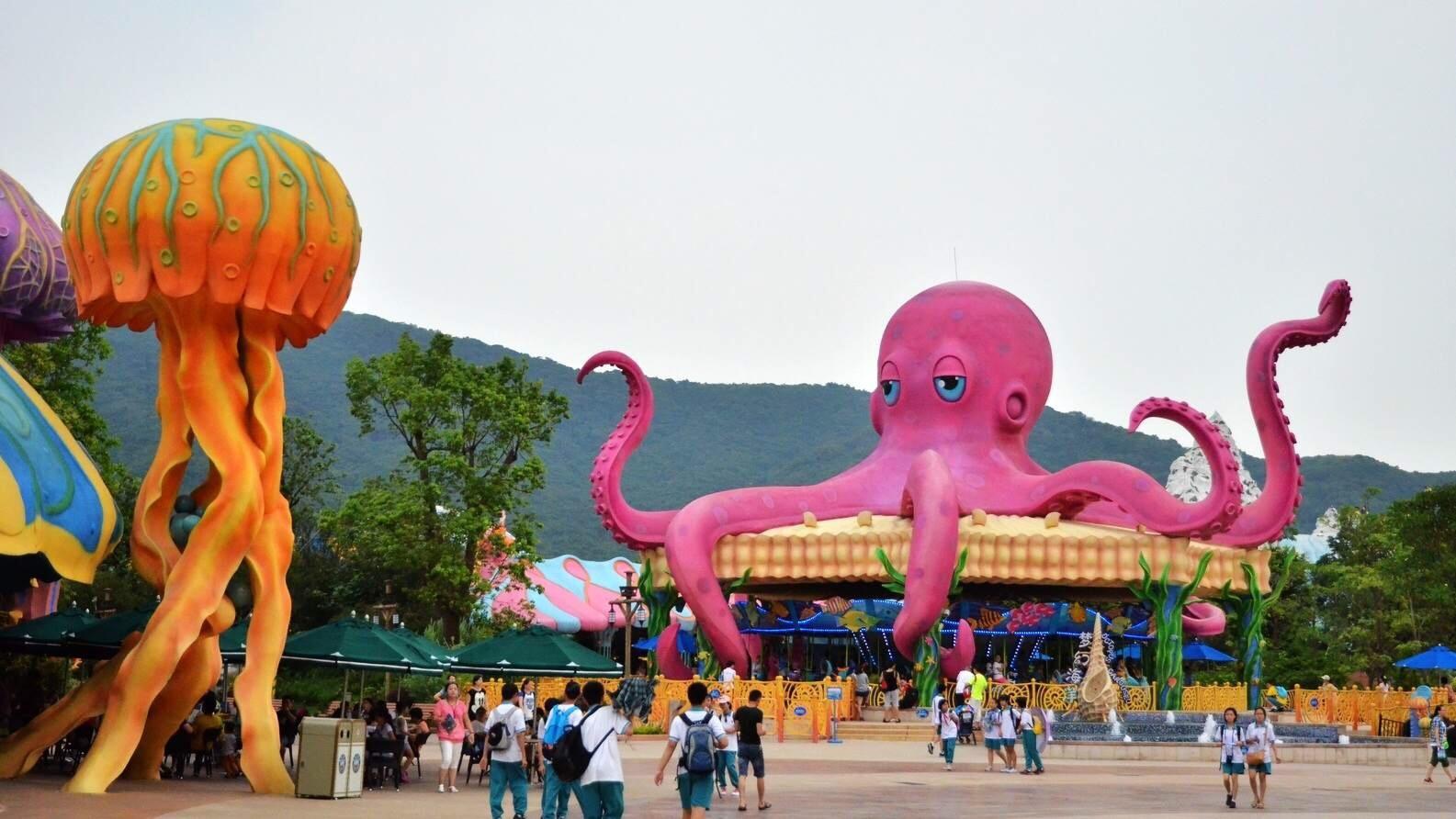 广州长隆欢乐世界,野生动物园,珠海长隆海洋王国2晚3日跟团游(双汽)