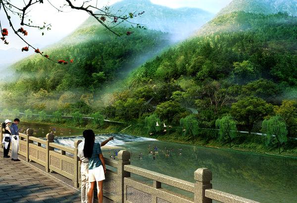 (門票 80元/人自理,小交通自理30元/人 )白云源風景區緊挨著富春江,面
