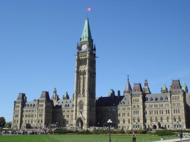 加拿大标志性建筑物简笔画