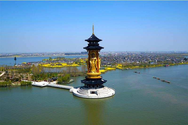 姜堰溱湖风景区图片
